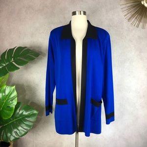 Exclusively Misook Open Front Blazer Jacket